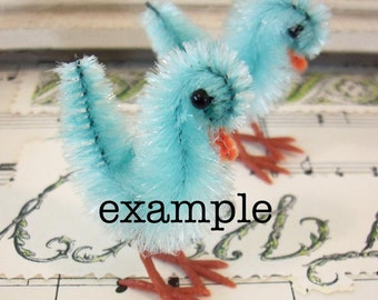 Vintage / Plastic Miniature Chicken Feet / Two Dozen / DIY Bump Chenille Chicks / DIY Pom Pom Chicks / Hard To Find