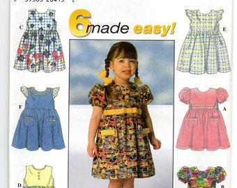 Simplicity 7669 Toddlers Dress Size 1/2,1,2 Uncut Pattern