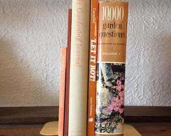 Naturalist's Book Collection in Browns Vintage Book Decor