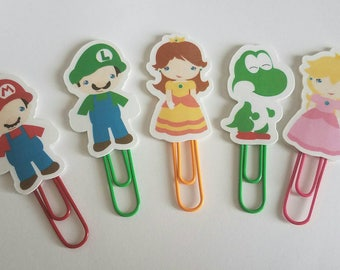 Plumber Brothers & Princess Laminated Paperclips  (set of 5)