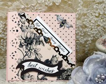 Best Wishes Card, Gift Card Holder, Money Holder