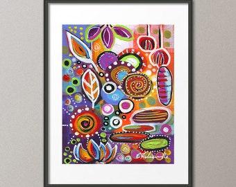 Fine Art Prints Flower Print Flower Painting Whimsical Art Scenic Landscape Art Abstract Modern Contemporary Elena