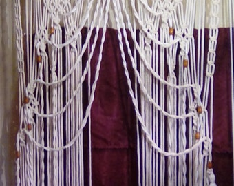 Macrame Diamond/Twist Weave Curtain For Wedding Decor