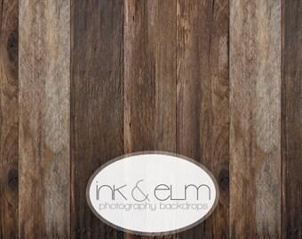 "Wood Backdrop 2ft x 2ft, Vinyl Photography Floordrop / Backdrop, Photo Rustic Old brown Wood, food photography backdrop, ""Riverwood Planks"""