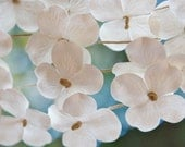 Spring wedding decorations, Hydrangea garland, Rustic wedding decor, Flower garland backdrop, White party decorations, Paper flowers