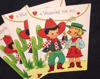 Vintage Forget-Me-Not Valentine Cards
