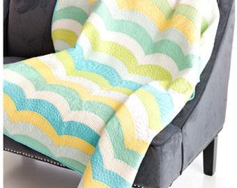 Metro Waves Quilt Kit with Robert Kaufman Kona solids and ruler