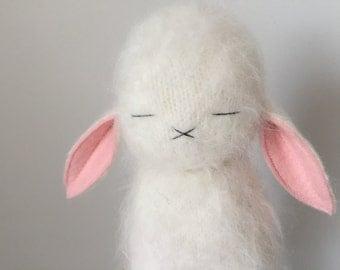 White Very Fuzzy Lux Bunny