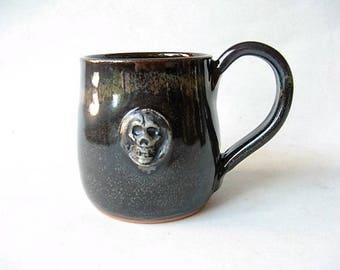 Skull Mug made in Stoneware 12 oz.