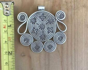Fireworks Hill Tribe Pendant