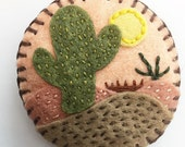 Embroidered Felt Brooch...