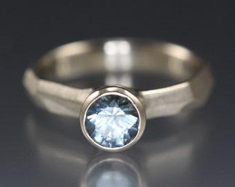 Montana Blue Sapphire Engagement Ring
