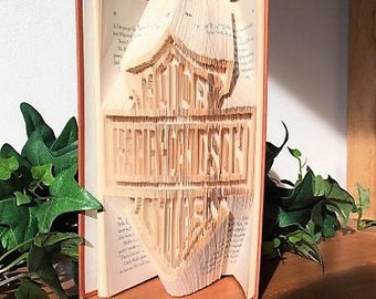 Harley - Davidson, Folded Book Art,  Gift for Him, Book Sculpture, Harley Art, Harley Davidson Decor, Motor Cycle