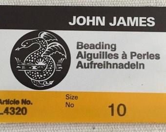 John James Beading Needles, Size 10