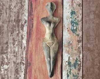 Female Artifact - Goddess Reproduction from 3500 BCE - Ritual Object - Primitive Pagan Art Pagan Home Decor