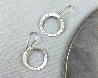 Dotty Circles  sterling silver earrings Deana Albers handmade
