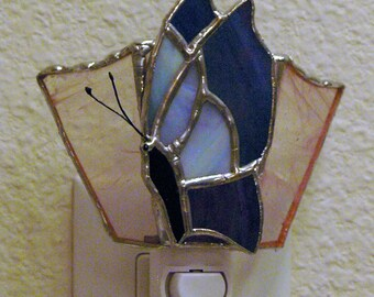 Stained Glass Butterfly night light  Suncatcher