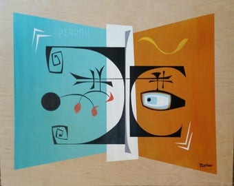 Calder One -original painting shipped free!