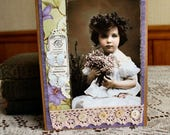 Thinking of You Collage card,handmade card