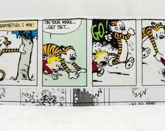Sewn Comic Book Wallet - Calvin and Hobbes