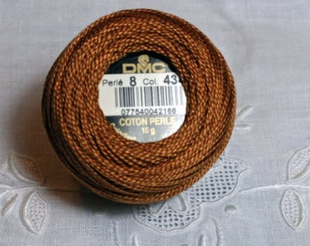 DMC Pearl / Perle Cotton Thread Balls Size 8 Light Brown 434