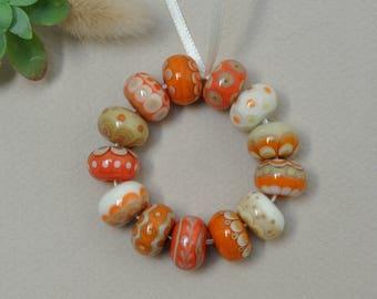 Happy - Lampwork beads by Loupiac