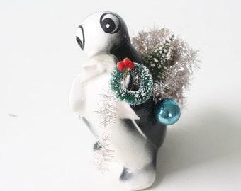 Vintage Penguin Planter