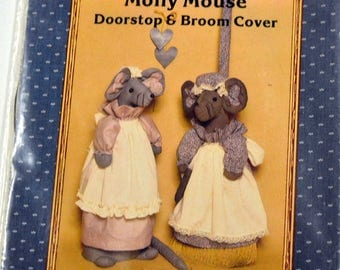 Molly Mouse Doorstop and Broom Cover pattern Complete