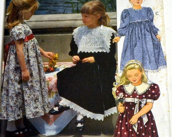 Girls' Sewing Pattern Vogue 7904 Girls' Dress   Size 4-5-6 UNCUT  COMPLETE