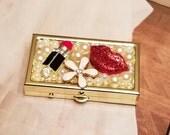 Stash/Pill Box/lipstick Bling
