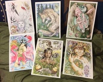 The Stolen Child Tarot mini print bundle