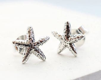 Stud Earrings | Tiny Starfish Earrings, Stud Earrings, Tiny Studs, Post Earrings, Small Stud Earrings, Post Earring, Earring Studs, Silver