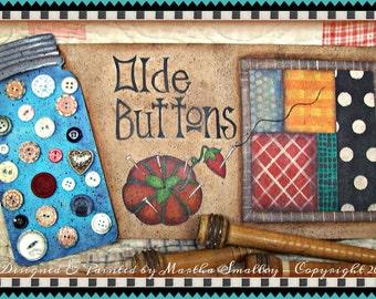 Apple Tree Cottage Original Design E Pattern - Olde Buttons