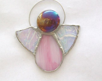 Newborn angel baby stained glass suncatcher memorial or ornament new baby