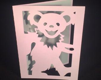 Grateful Dead Dancing Bear Hang Tag Gift Tag Tea Bag Tag Party