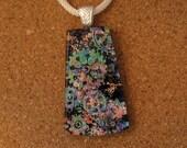 Dichroic Pendant - Dichroic Jewelry - Fused Glass Pendant - Fused Glass Jewelry - Dichroic Necklace - Dichroic Steam Punk Pendant