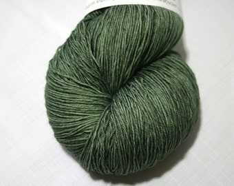 Hand Dyed Artisan Yarn, Tonal Kettle Dyed Heavy Lace, Semisolid SW Merino Wool Sock Yarn, Sage Advice #102016, Long Stride Sock (750yds)