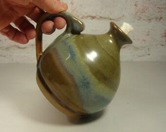 Pottery Oil Lamp - Stoneware Garden Lantern