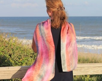 The Other Woman ... hand painted silk satin scarf
