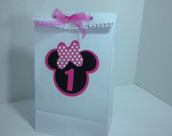 Minnie Mouse birthday favor bags