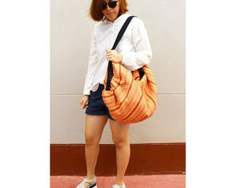 Shoulder Bag Crossbody Bag Sling Bag Hippie Hobo Bag Handmade bag Purse Cross Body Thai bag / Gift Black Multi-color (H 23)