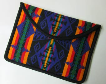 Surface Pro 3 or 4 Laptop Cover Sleeve Case Padded Colorful Blanket Wool from Pendleton Oregon Tribal Inspired