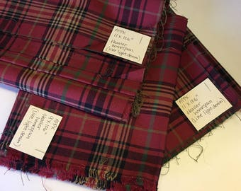 Destash - Heavy Cotton Homespun Fabric - Red Plaid - Crafts - Rag Quilts - Crafts - Totes