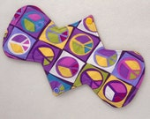 "10.5"" Regular - Purple Peace - Reusable Cloth Menstrual Pad (10MC)"