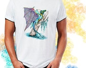 Lacewing Swamp Dragon Tangle Art T-Shirt Youth and Adult Sizes
