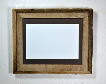 11x14 barn wood picture frame with mat for 8x10 or 8x12 or 9x12