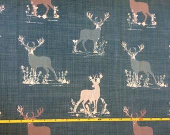 NEW Art Gallery Deer Dear Teal on cotton Lycra  knit fabric 1 yard