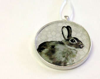 SALE - Ornament - Fauna Collection - Bunny  (Packaged) - Original artwork