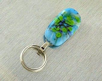 Magnetic ID Holder & Magnetic Eyeglass Holder Handmade with Lampwork Glass, Magnetic Eyeglass Lanyard