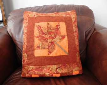 Quillow, Pillow, Lap Quilt, Lap Throw - The Autumn Leaves Quillow
